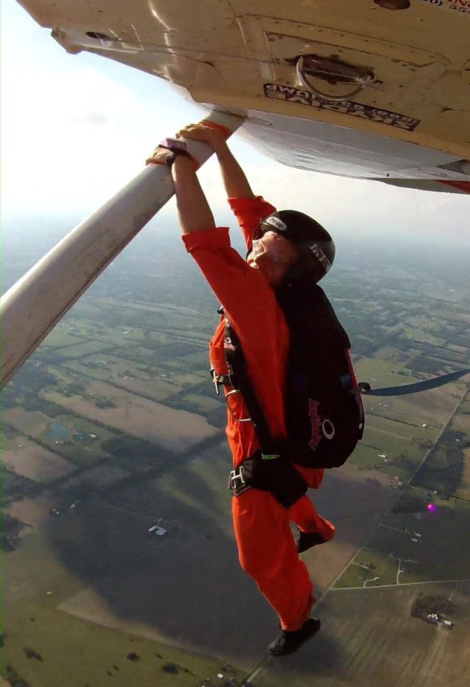 how high is skydiving